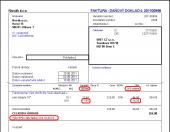 Spotřební daň z lihu - tisk faktury