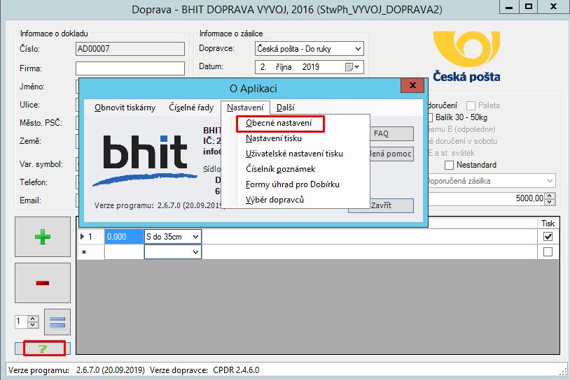 Česká pošta - změna certifikátu
